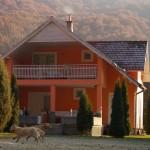 Casa Zan, vedere din curtea din spate, toamna
