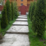 Casa Zan aleea spre poarta de la intrare